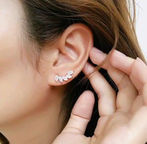 Crystal Ear Climber- Gold or Silver