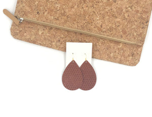 Hessonite Cinnamon Diamond Textured Teardrop Earrings
