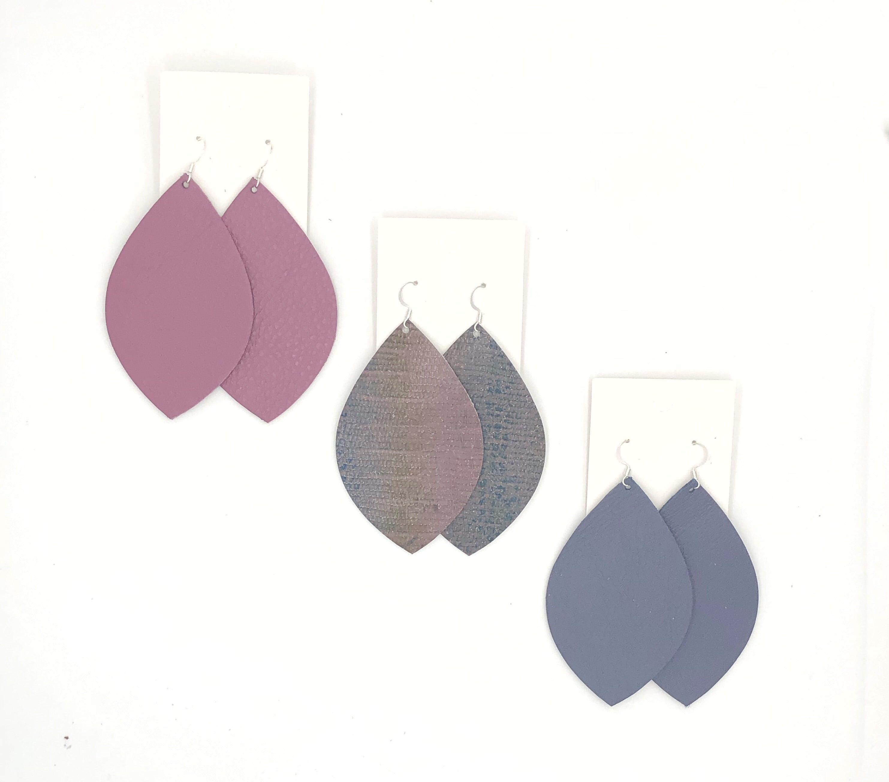 Purple Snakeskin Leaf Trio