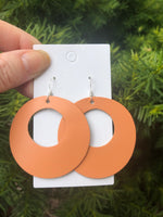 Light Orange Circle Cutout Earrings