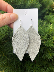 Tinsel Sparkle Leaf Fringe Earrings