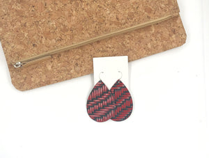 Red and Black Braided Teardrop