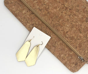 Gold Prism Earrings