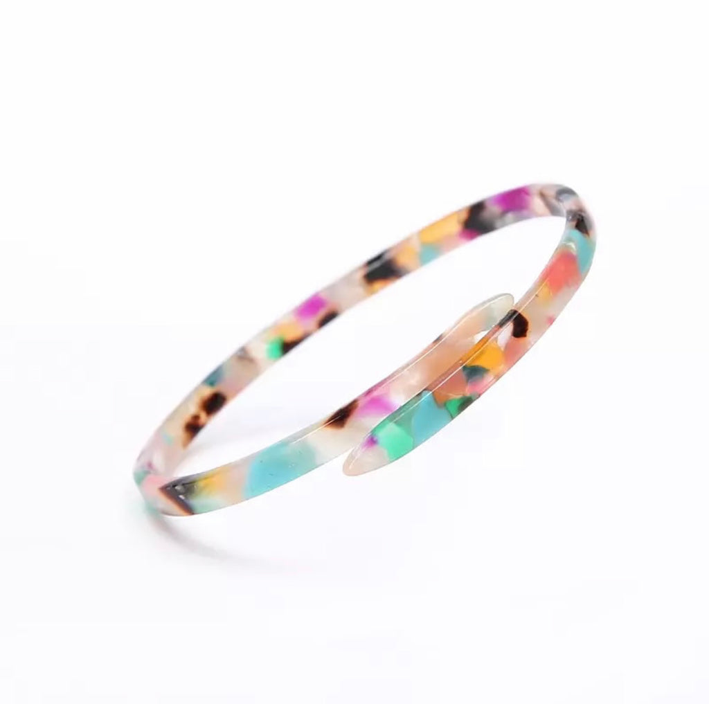 Multi-Color Acrylic Bangle