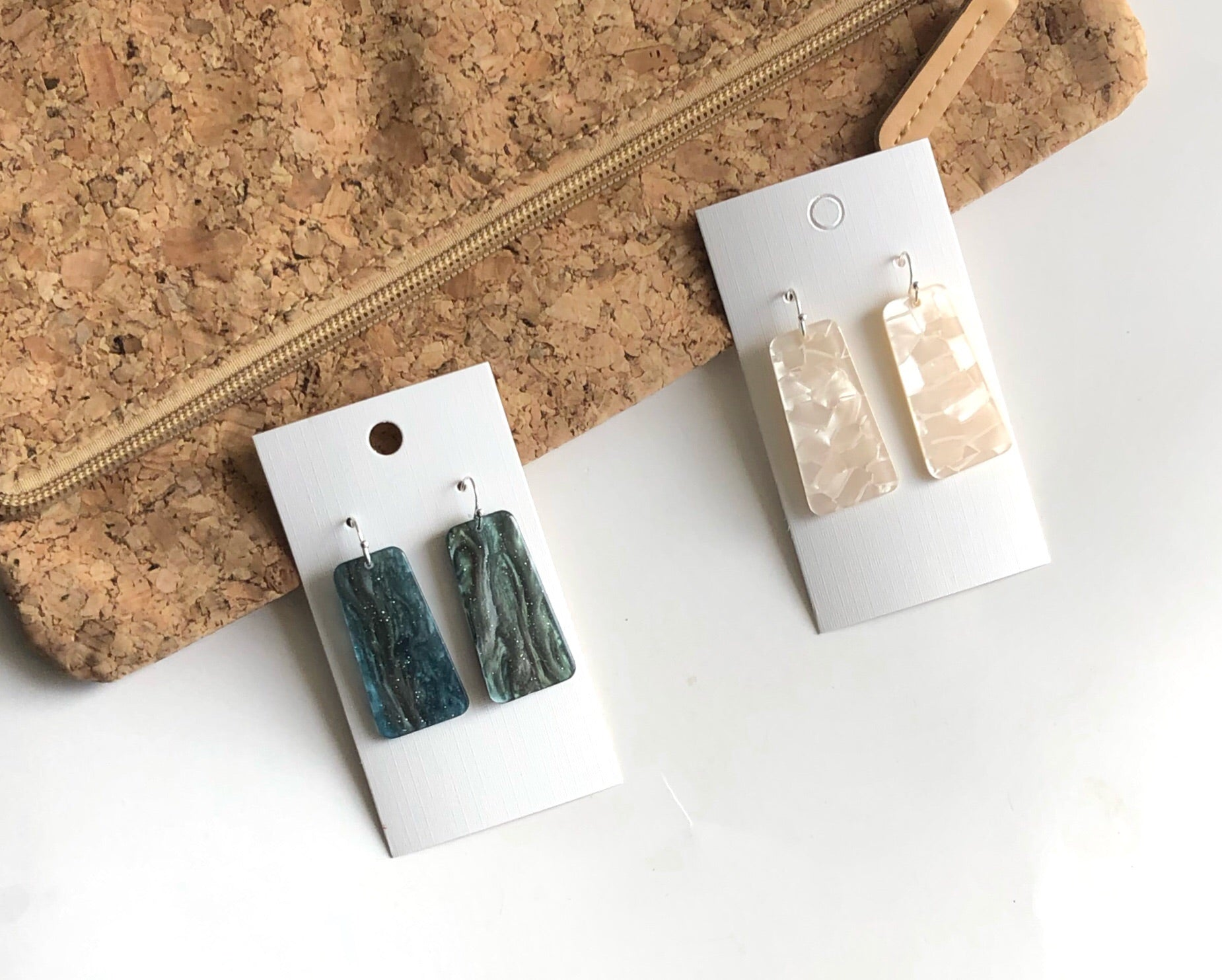 Jade Bell Acrylic Earrings