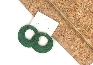 Green Raffia Circle Cutouts