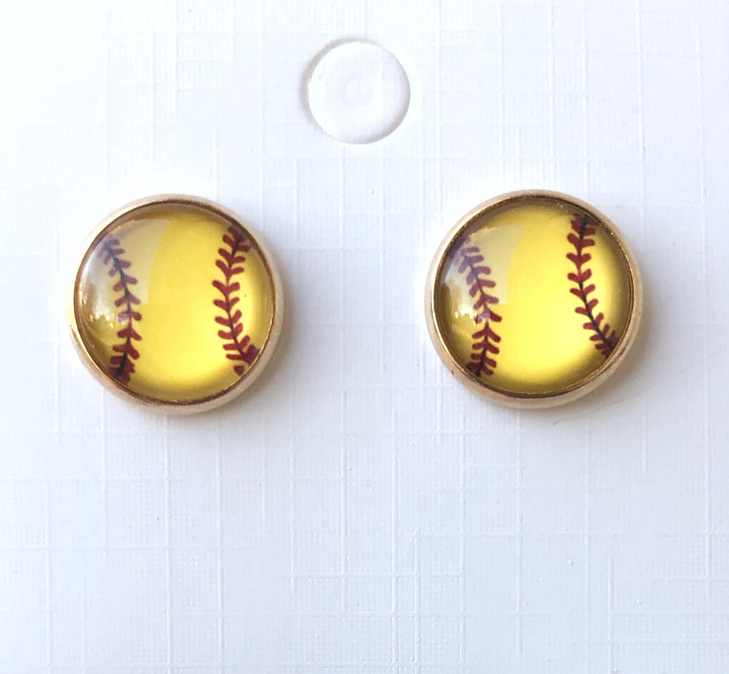 Softball Stud Earrings
