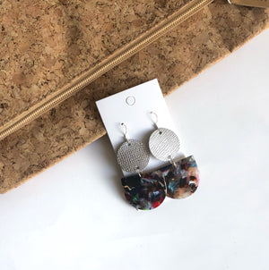 Silver and Multi Color Deco Drops