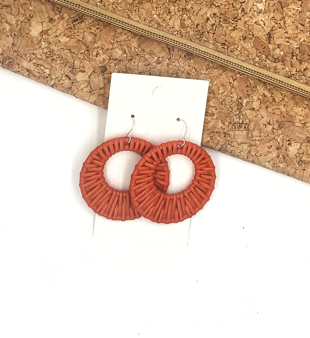 Orange Raffia Circle Cutouts