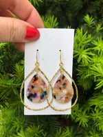 Multi-Color Teardrop Chandelier Earrings