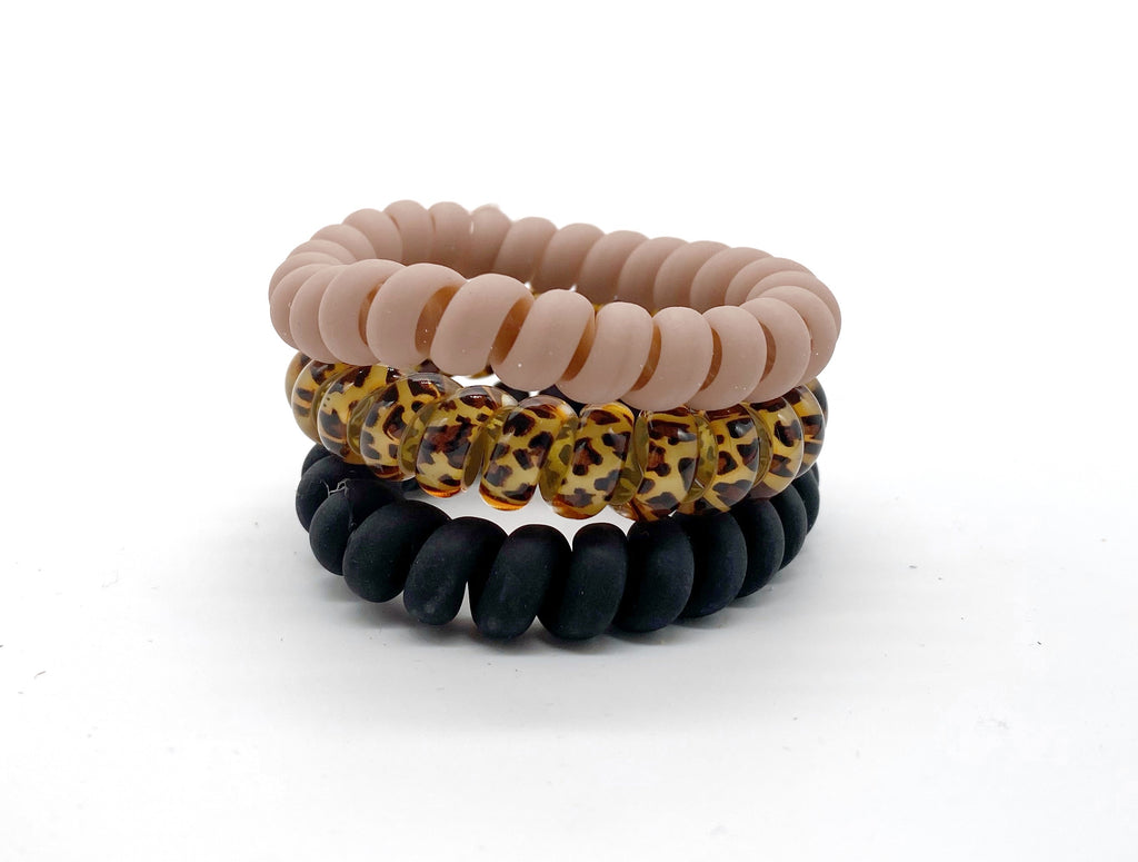 Leopard Hair Ties Set