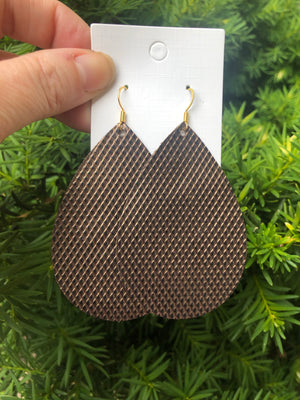 Bronze Diamond Texture Teardrop
