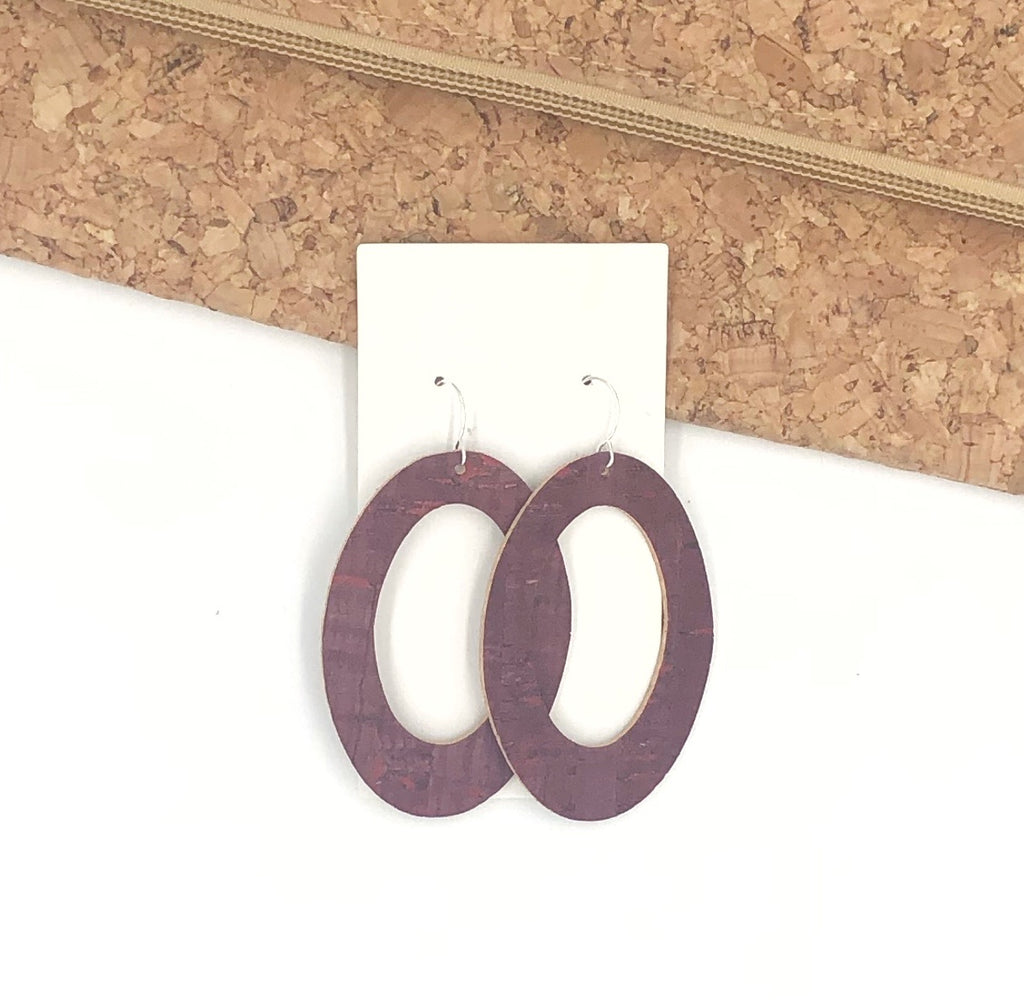 Mauve Cork Oval Cutout