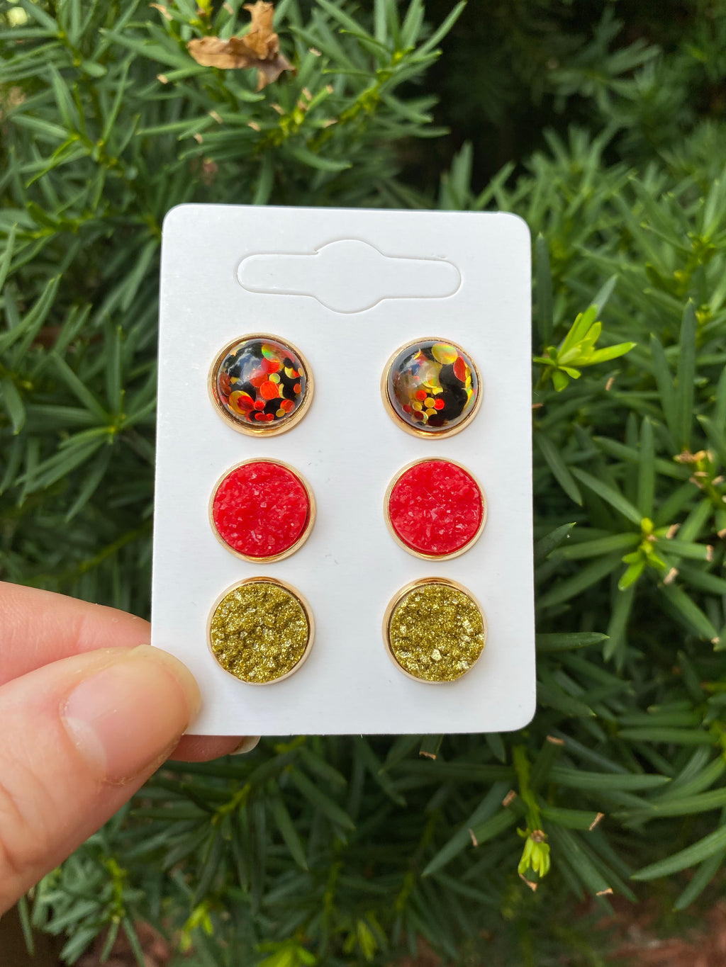Chiefs Kingdom Stud Trio Earrings