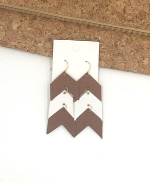 Brown and White Ascending Arrows