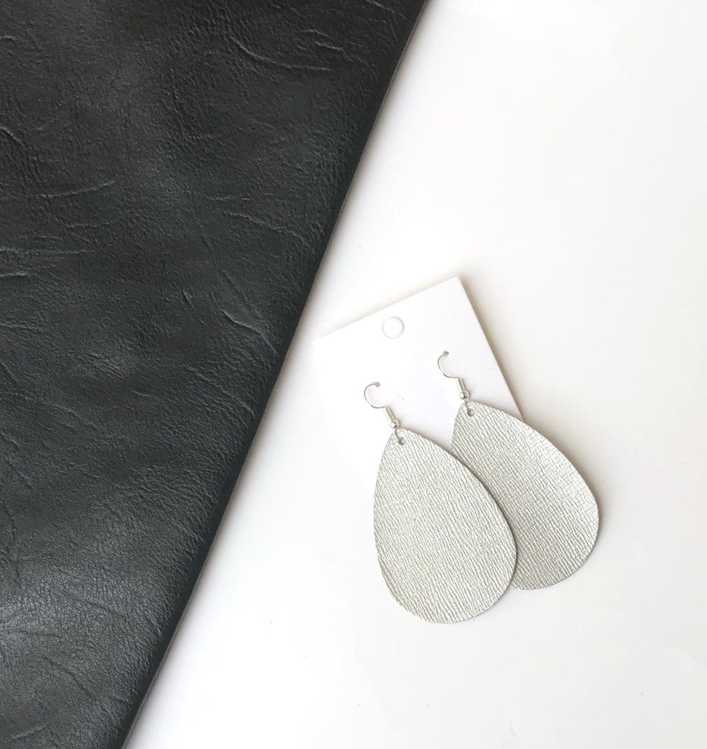 Platinum Textured  Teardrop