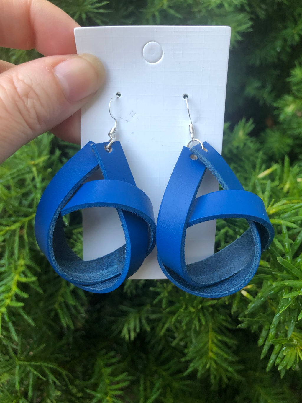 Blue Knotted Earrings