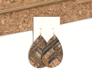 Brown Striped Cork Teardrop