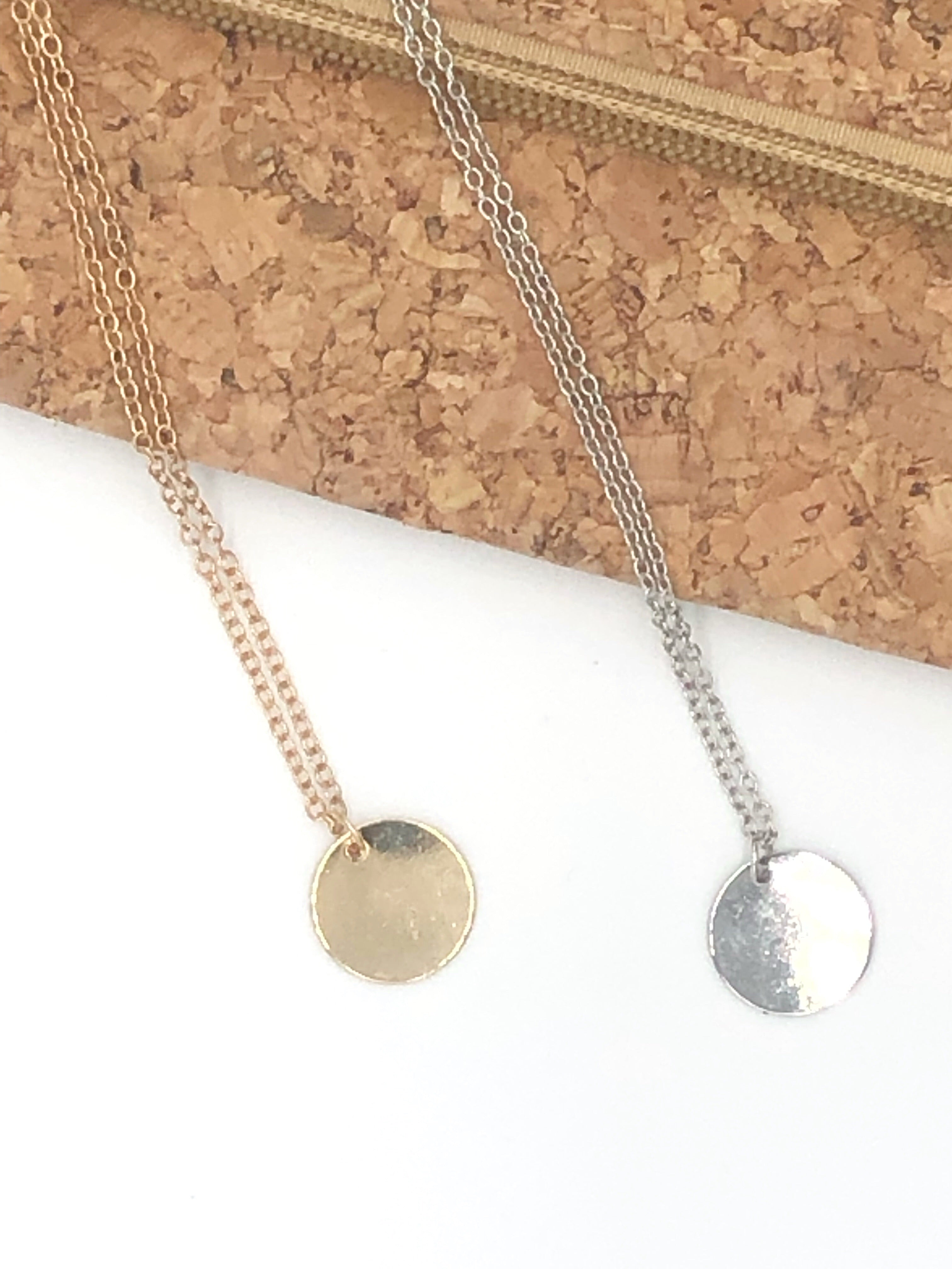 Gold Mini Disc Necklace