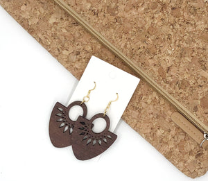 Wood Fan Earrings