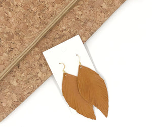 Camel Leaf Fringe Earrings