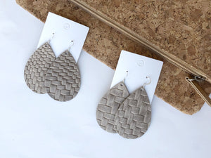 Taupe Braided Teardrop