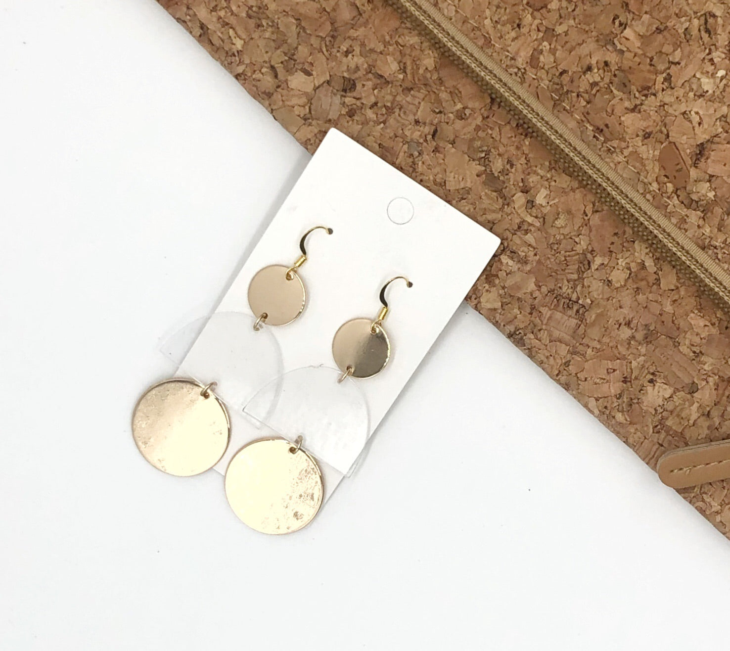 Lucite and Gold Earrings