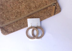 Corkleather Gold Circle Silhouette