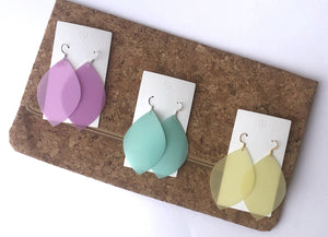 Yellow Leaf Jelly Earrings