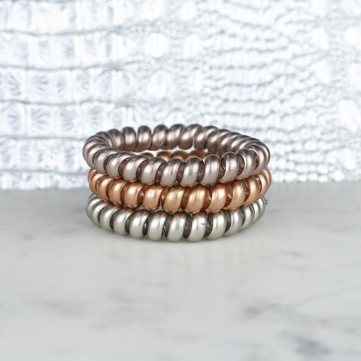 Metallics Hair Tie Set