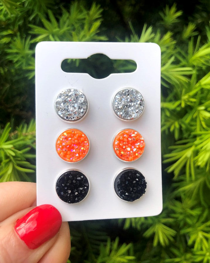 October Stud Trio Earrings