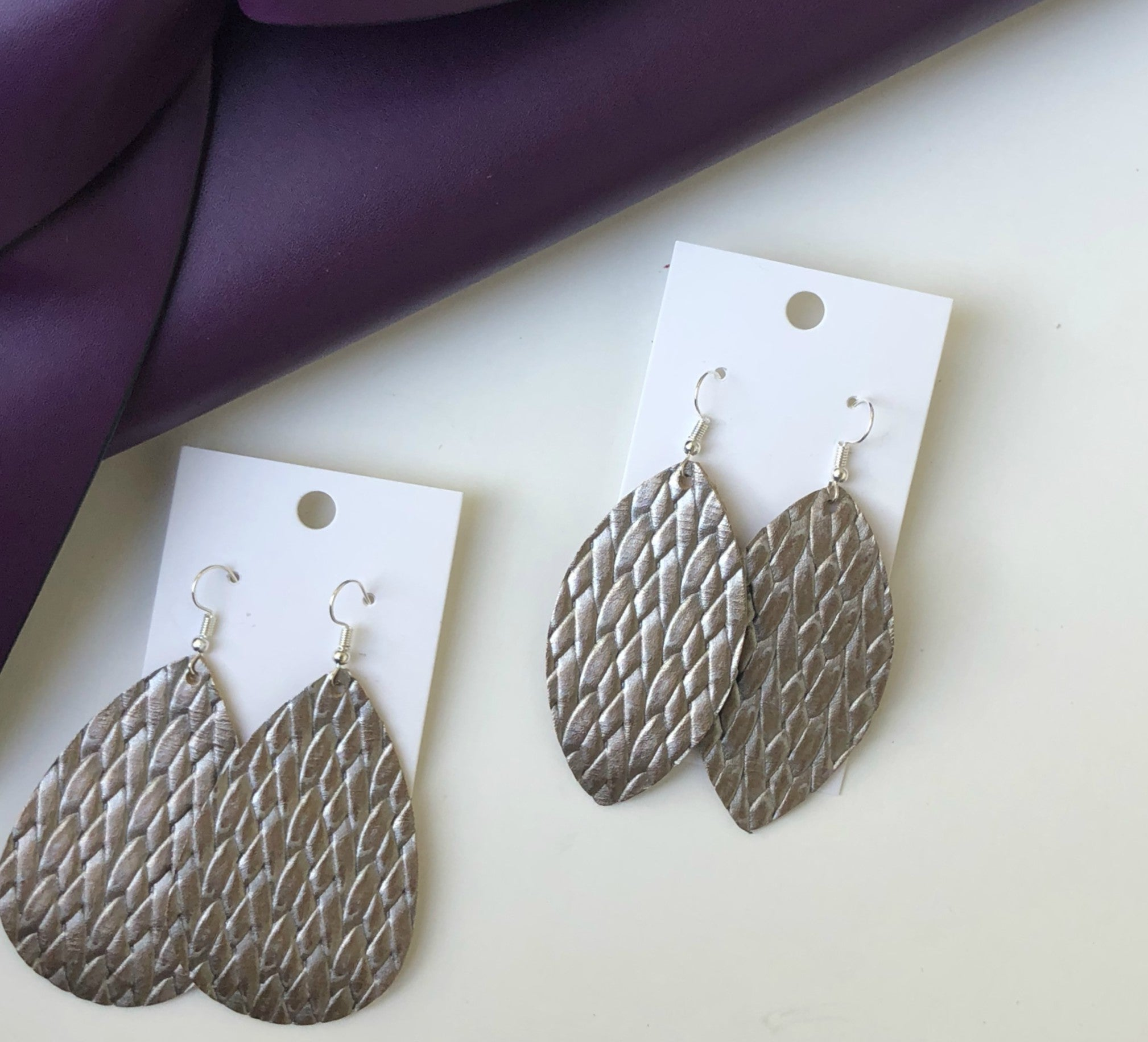 Pewter Braided Teardrop
