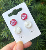Red Chiefs Stud Set Earrings