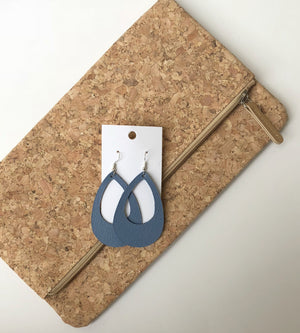 Chambray Cutout Teardrop