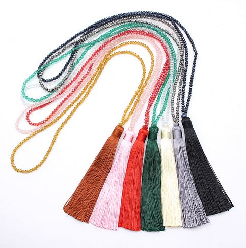Sparkle Tassel Necklace