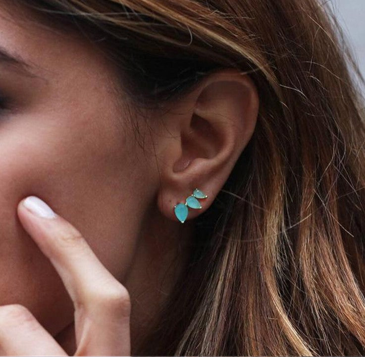 Turquoise Ear Climber
