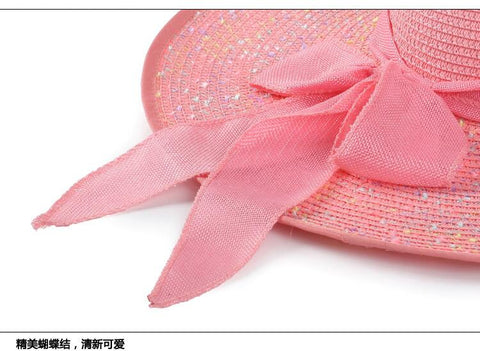 44c5a564 2018 Summer Women's beach hats Caps Foldable Chiffon Floppy Sun Hats Casual  Ladies sombreros bowknot hat