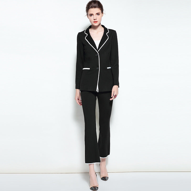 Womens Blazers And Jackets Pants Two Piece Sets Runway Office Lady