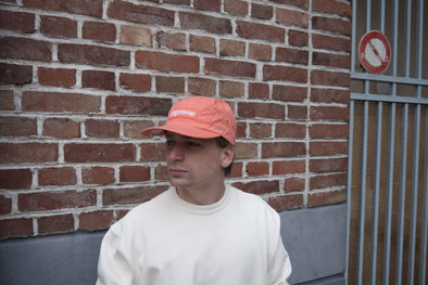 Supreme Overdyed Ripstop Camp Cap Peach