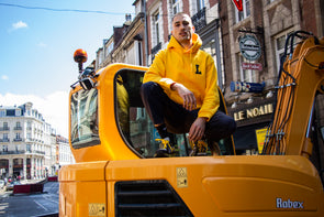 "LBC Clothing hoodie ""Lille university"" Jaune"