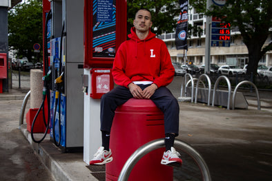 "LBC Clothing ""Lille university"" hoodie rouge"