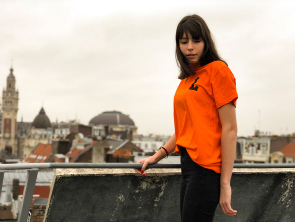 "LBC Clothing tee ""Lille university"" Orange"
