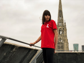 "LBC Clothing tee ""Lille university"" Rouge"