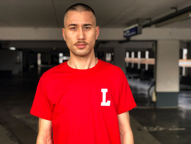 "LBC Clothing ""Lille university"" tee rouge"