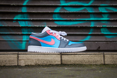 Air Jordan 1 Low Custom Pink Blue