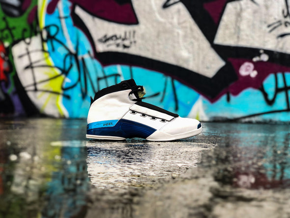 Nike Air Jordan 17 White college blue
