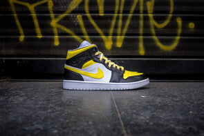 Air Jordan 1 Mid Custom Yellow Black