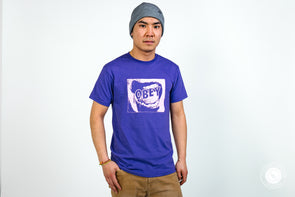 Obey Tee Screamer Purple