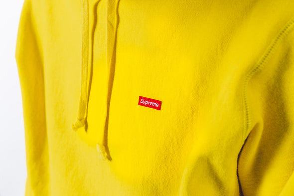 Supreme Hoodie Small box Logo Yellow