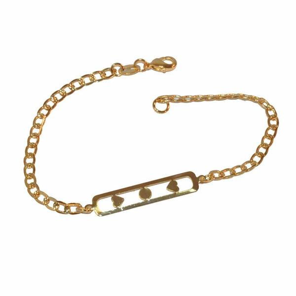 1-0897-f1 Gold Layered Girl's ID Bracelet, 7.25